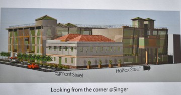 A view of the 3D drawing of proposed complex from the corner at Singer (Photo Credits: API)