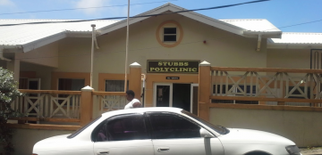 A photo of the entrance of the Stubbs Polyclinic