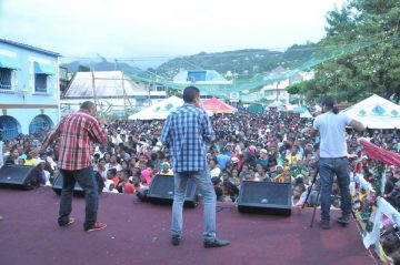 The Bowmans performing at a Nine Mornings concert in 2013. Christmas Nine Mornings festivities are unique to St. Vincent & the Grenadines.