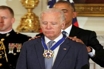 President Barack Obama presents the Presidential Medal of Freedom to Vice President Joe Biden