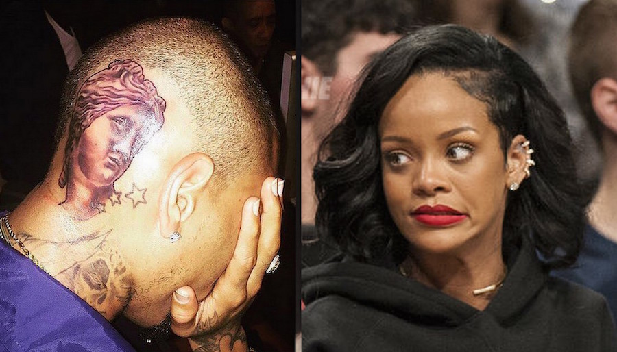 Rihanna Disappointed With Chris Brown New Tattoos Calls It