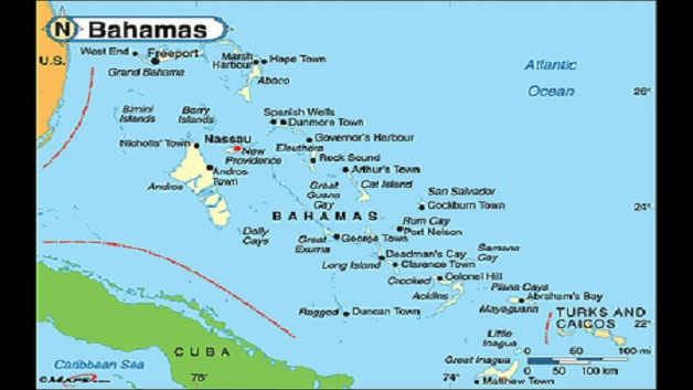 Bahamas Increasing Security On Flights To USA WE FM The Clean - Map usa bahamas